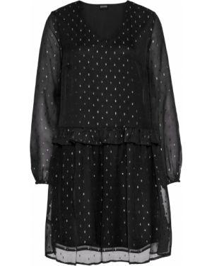 Платье с прозрачными рукавами на резинке Bonprix