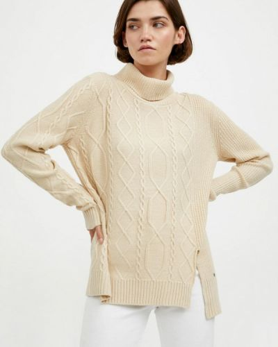Расклешенный свободный бежевый свитер Finn Flare