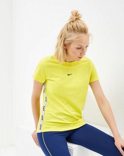 Желтое поло спортивное Nike