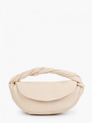 Бежевая сумка из полиуретана Mango