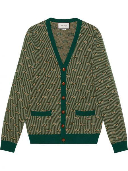 Kardigan - zielony Gucci