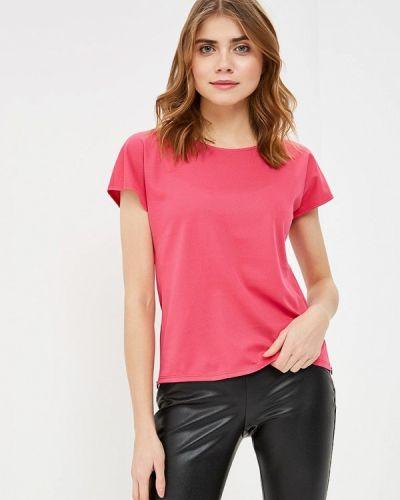Блузка с коротким рукавом розовая польская Maison Sophie