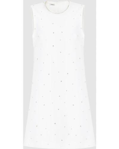 Белое платье мини Miu Miu