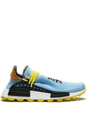 Niebieskie sneakersy sznurowane koronkowe Adidas By Pharrell Williams