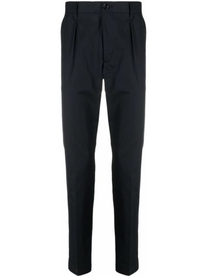 Niebieskie spodnie bawełniane z paskiem Boss Hugo Boss