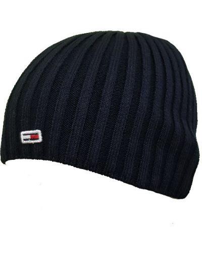 Хлопковая шапка - синяя Tommy Hilfiger