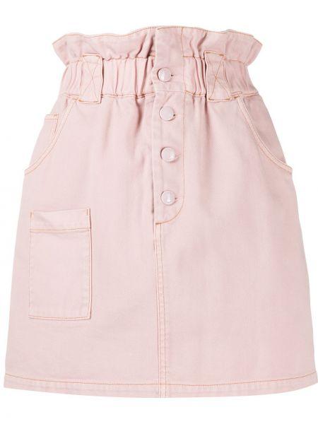 Джинсовая юбка с завышенной талией классическая Fendi