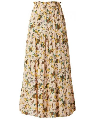 Biała spódnica maxi rozkloszowana z wiskozy Object