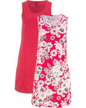 Летнее платье мини красный Bonprix