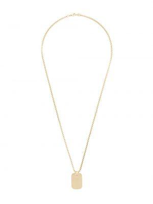 Золотистое ожерелье золотое позолоченное Northskull