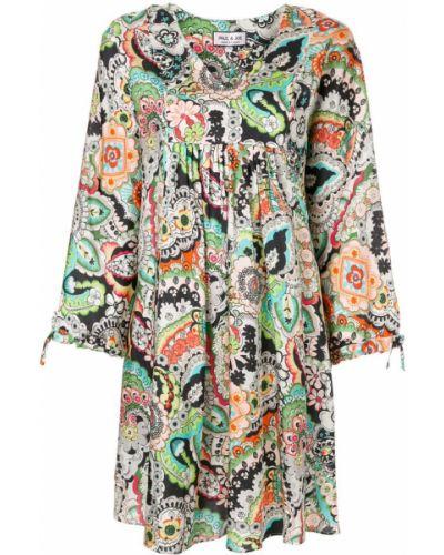 Платье с цветочным принтом из вискозы с принтом Paul & Joe