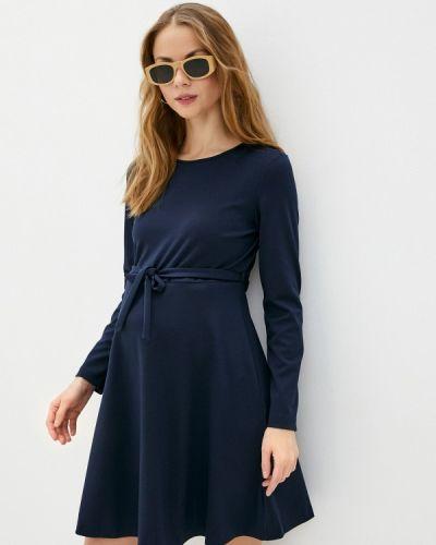Прямое синее платье Budumamoy