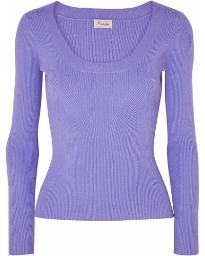 Фиолетовый вязаный свитер из вискозы Temperley London