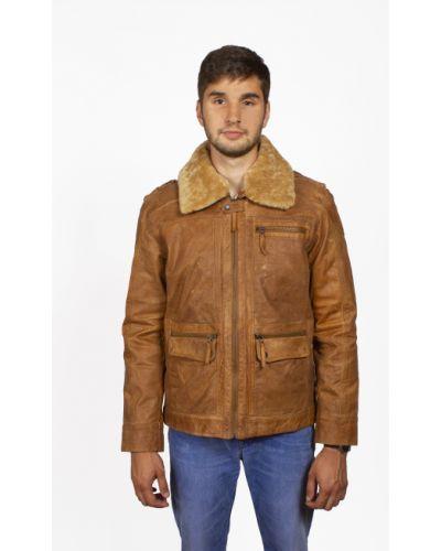 Кожаная куртка - коричневая Mustang