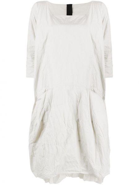 Серое платье миди оверсайз с карманами с вырезом Rundholz