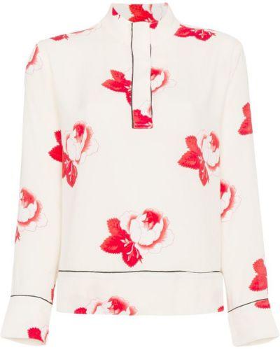 Блузка с цветочным принтом из вискозы Ganni