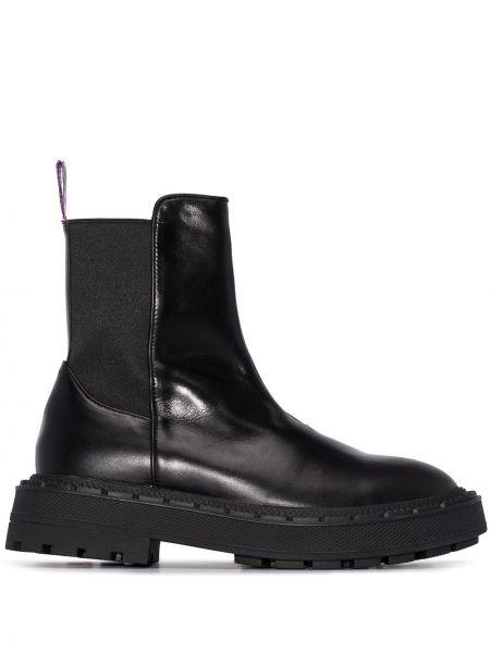 Czarny buty skórzane z prawdziwej skóry Eytys