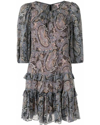 Платье мини с вырезом с принтом Rebecca Taylor