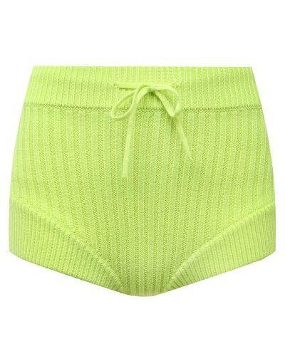 Трикотажные шорты - зеленые David Koma