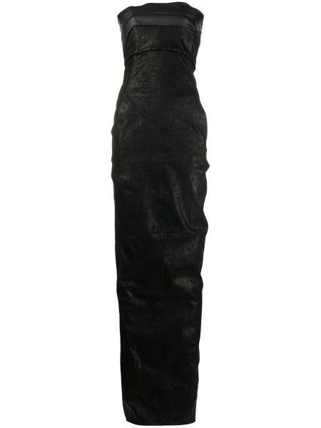 Bawełna bawełna długo sukienka z falbankami bez ramiączek Rick Owens