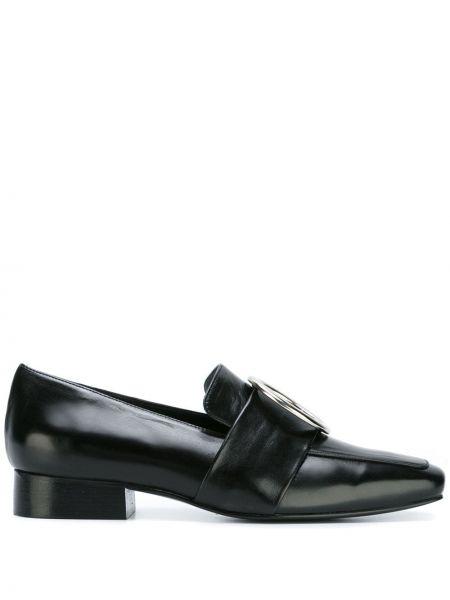 Czarne loafers skorzane Dorateymur