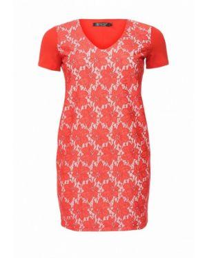 Коктейльное платье красный итальянский Kitana By Rinascimento