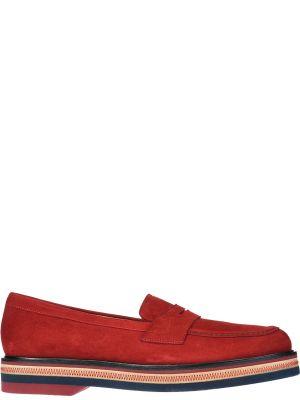 Кожаные лоферы - красные Fratelli Rossetti