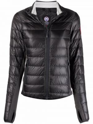Пуховая черная стеганая длинная куртка Canada Goose