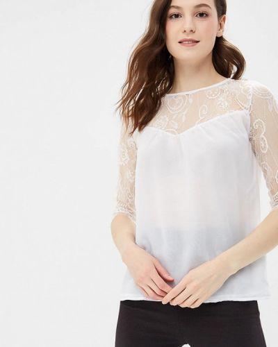 Блузка с коротким рукавом белая Gepur