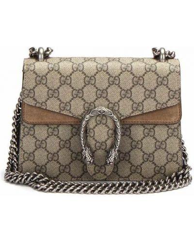 Torba na ramię vintage - brązowa Gucci