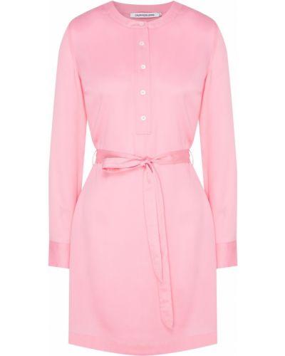 Платье мини розовый на пуговицах Calvin Klein