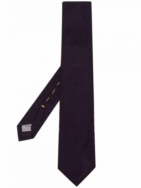 Krawat z jedwabiu - fioletowy Canali