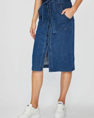 Юбка миди джинсовая на пуговицах Vero Moda