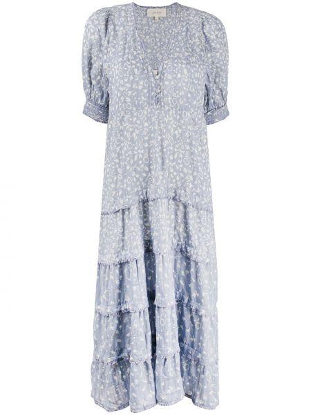 Платье миди с вышивкой на пуговицах с V-образным вырезом с манжетами The Great.