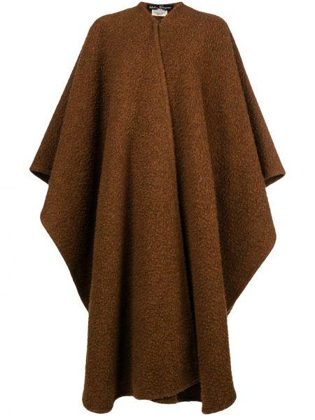 Терракотовое шерстяное пальто с капюшоном Salvatore Ferragamo Pre-owned