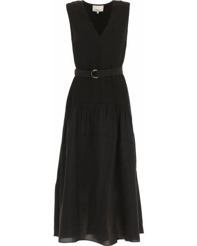 Czarna sukienka wieczorowa bez rękawów z dekoltem w serek 1. Phillip Lim