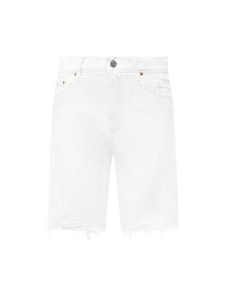 Хлопковые белые джинсовые шорты Grlfrnd