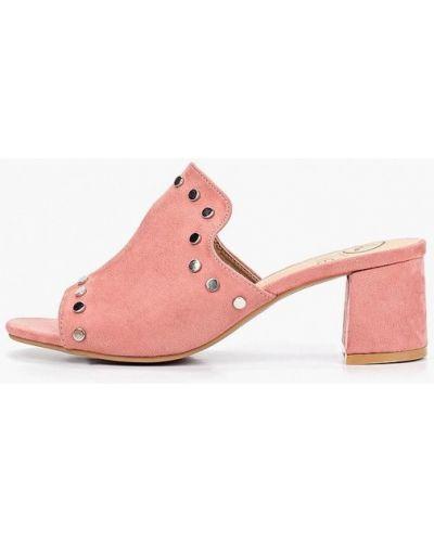 Сабо розовый на каблуке Kylie