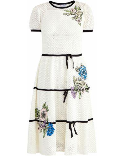 Платье миди с вышивкой платье-комбинация Redvalentino