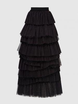 Черная юбка макси Twin-set