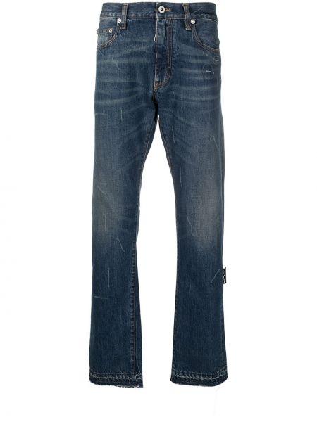 Bawełna bawełna niebieski klasyczny jeansy z kieszeniami Off-white