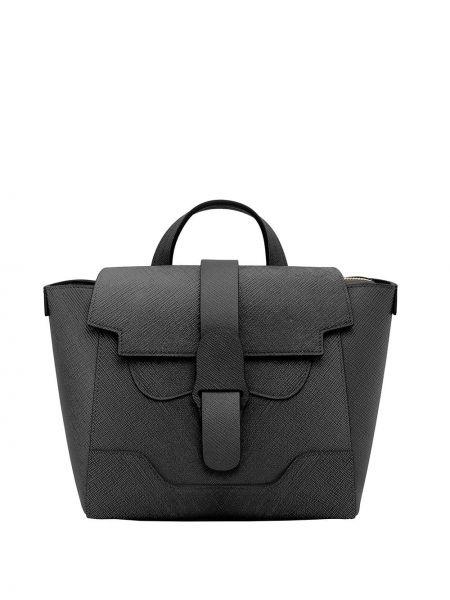 Czarna torebka skórzana Senreve