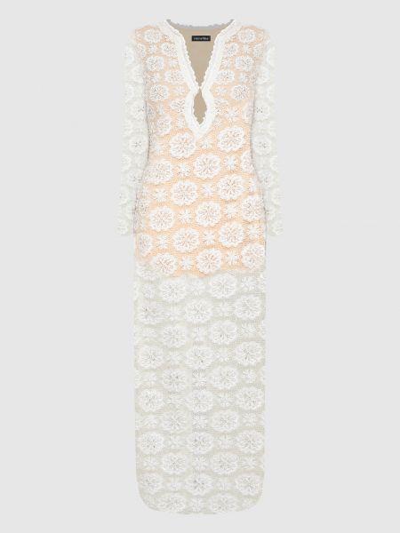Платье макси - белое Retrofete