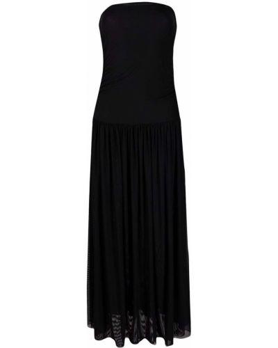 Czarna sukienka długa Fisico
