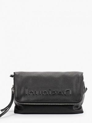 Черная зимняя сумка Desigual