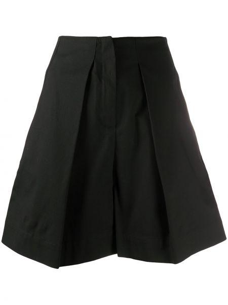 Хлопковые черные шорты с карманами Gina