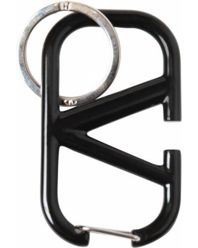 Czarny etui na klucze metal Valentino Garavani