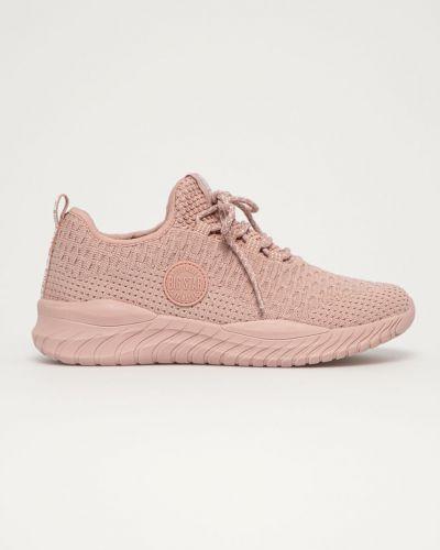 Różowe sneakersy sznurowane Big Star