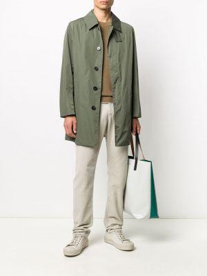 Длинное пальто - зеленое Mackintosh