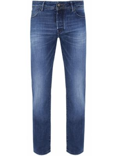 Хлопковые джинсы с карманами с нашивками на пуговицах Jacob Cohen